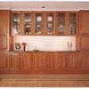 cherry built in credenza