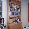 oak bookcase unit