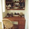 cherry desk and cubbies