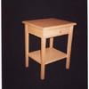 maple end table with shelf