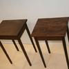 set of walnut end tables